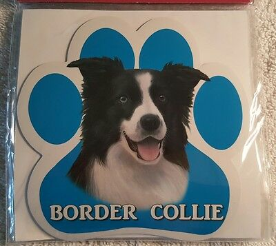 Border Collie Dog Breed Paw Print Magnet
