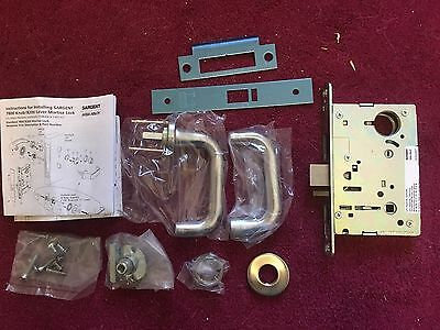 Sargent 8237 L LNJ 26D Passage Function Mortise Lock 8200 Series Satin Chrome