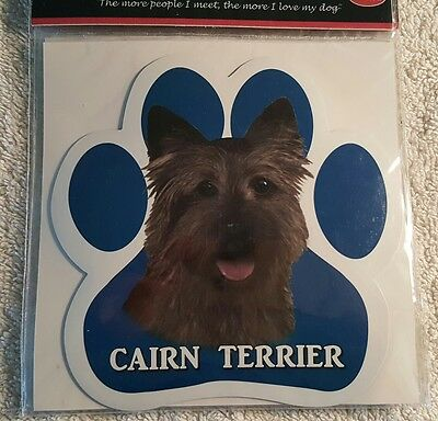 Cairn Terrier Dog Breed Paw Print Magnet