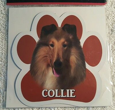 Collie Dog Breed Paw Print Magnet