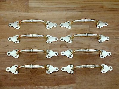 8 X Brass Beehive Door Or Drawer Pull Handles Cupboard Furniture Knobs Grab