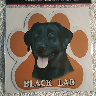 Labrador Retriever Black Dog Breed Paw Print Magnet