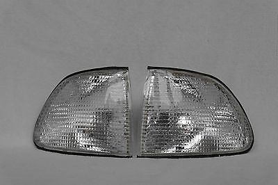 A set of DEPO clear crystal indicators for the BMW 7-Series E38 type.