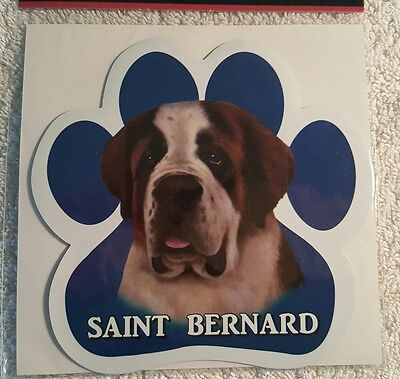 Saint Bernard Dog Breed Paw Print Magnet