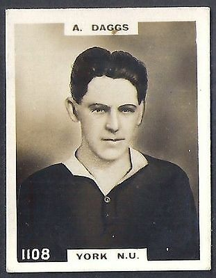 Pinnace Football-Photo Back-#1108- Rugby - York N.u. - A Daggs