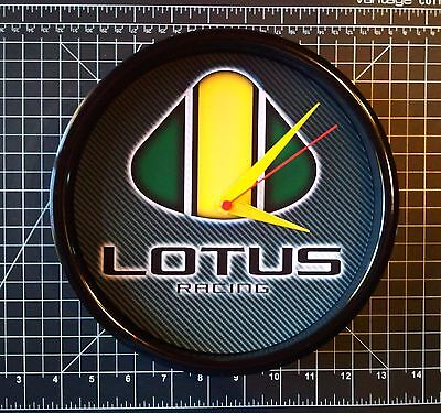 LOTUS Logo / Lotus RACING -  - Wall Clock - 9 inch Quartz - NEW