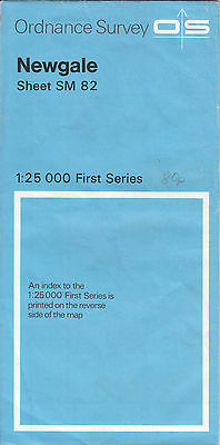 Ordnance Survey Map 1:25,000 First Series Sheet SM82 Newgale
