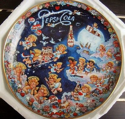 1995 Pepsi Christmas Plate, Limited Edition THE HEAVENLY TASTE by Bill Bell
