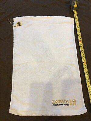 Dewar's 12 Small Golf Towel Dewars Scotch Whiskey New