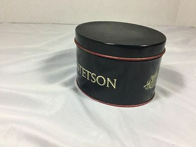 Vintage Stetson Tin For Miniature Stetson Hat