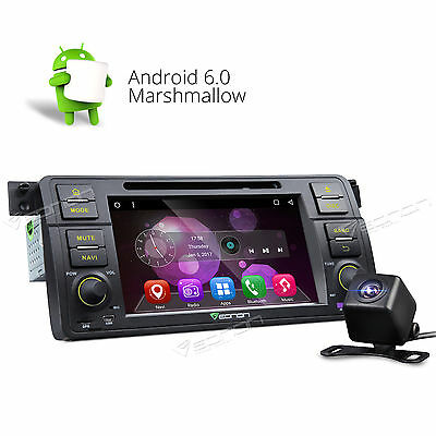"For BMW 3 Series E46 7"" Android 6.0 OS Car DVD Player Stereo F BT CAM+ Radio USB"