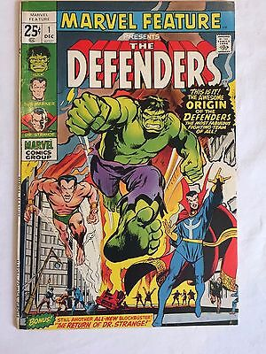 Marvel Feature #1 Vf 8.0 1St Appearance Of The Defenders