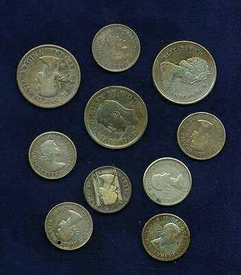Canada  Group Lot Of Assorted Silver Coins With A Face Value Of $1.45