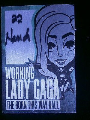 Lady GaGa Backstage Pass Green Working Chicago MAKE AN OFFER!