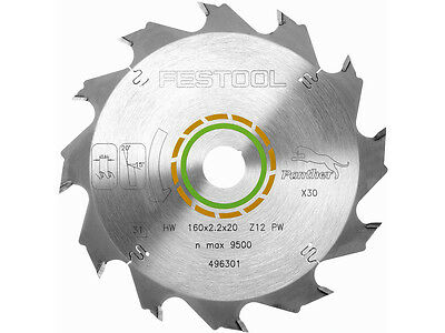 Festool 496301 Panther Cutting Saw Blade 160mm x 20mm x 12T