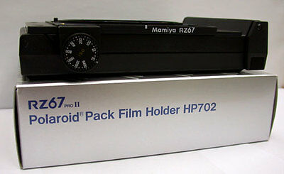 Mamiya RZ PRO IID, PRO II, RZ POLAROID FILM HOLDER / FILM BACK HP702