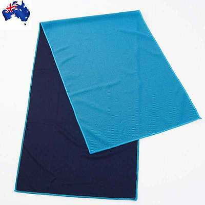 Magic COOLING TOWEL for Sports Gym Camping Travel Jogging Light Blue