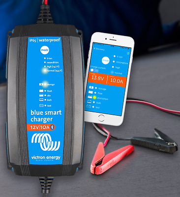 Victron Energy 12V/15A Blue Smart IP65 Battery Charger NEW