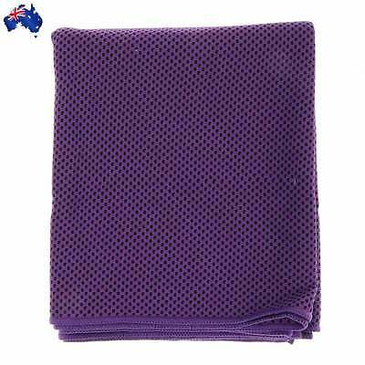 Magic COOLING TOWEL for Sports Gym Camping Travel Jogging Purple