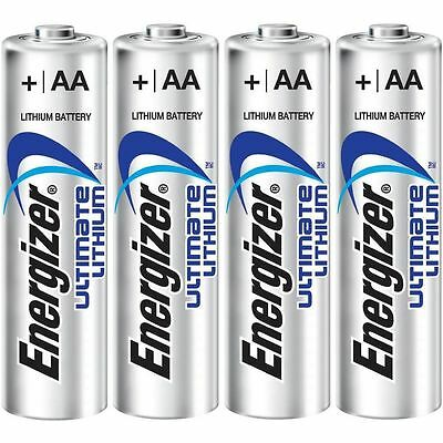 6x ENERGIZER AA ULTIMATE LITHIUM BATTERIES 4 DIGITAL CAMERA LOOSE IN A FLAT PACK