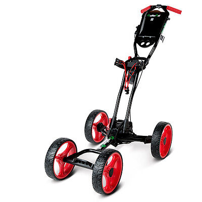 GolferPal EasyPal Electric Auto-Folding / Unfolding Golf Push Cart - Red