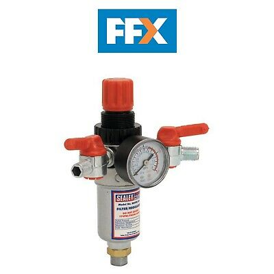 Sealey SA4FR/38 Air Filter Regulator 3/8in BSP Male - 1/4in BSP Male