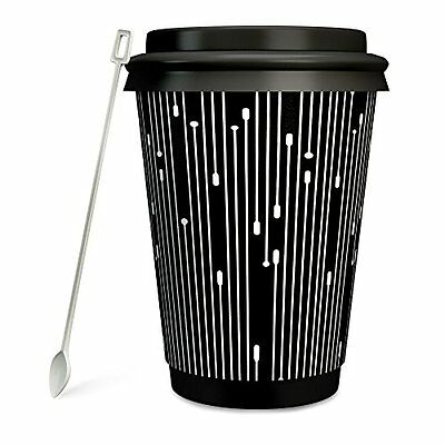 Double Wall Insulated Disposable Paper Coffee Cup with Lid Sleeve Pack of 50