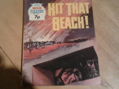 war picture library(hit that beach)no 961 comic 1974 bronze age 1970-1979