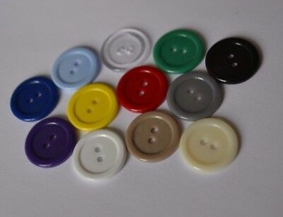 Pack of 20+  Acrylic 20mm Round Buttons with 2 hole