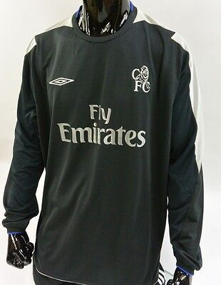 US  THE BLUES 2004-2005 UMBRO Chelsea FC Long Sleeve Away Shirt SIZE ... 4b818558c
