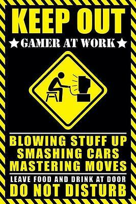 NEW * KEEP OUT * GAMER AT WORK PYRAMID POSTER 62cm X 91cm ..no23