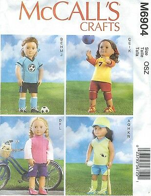 """McCall's 6904 Doll Clothes 18""""   Sewing Pattern"""