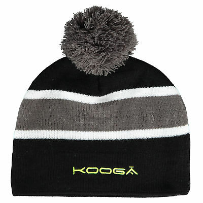 KooGa Childrens Kids Rugby Leicester Tigers Knitted Bobble Beanie Woolie Hat