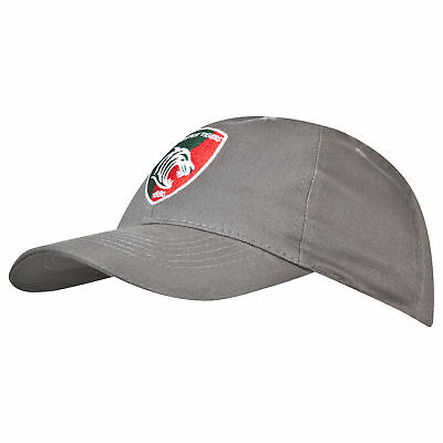 KooGa Mens Gents Rugby Leicester Tigers Woven Cap Hat - Charcoal