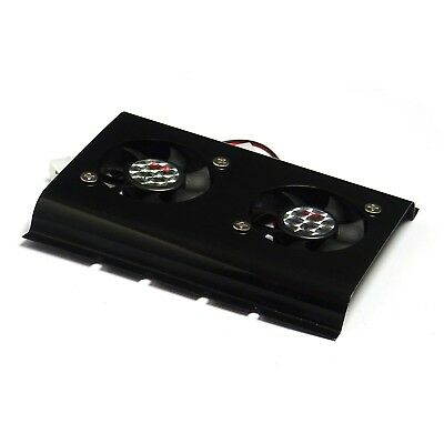 Black 3.5 SATA IDE Hard Disk Drive HDD 2 Fan Cooler for PC *UK Stock*