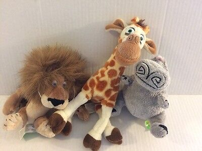 Dreamworks Madagascar MELMAN ALEX GLORIA Plush Stuffed Animals