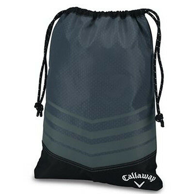 NEW Callaway Golf Sport Drawstring Shoe Bag Grey / Black Travel Storage