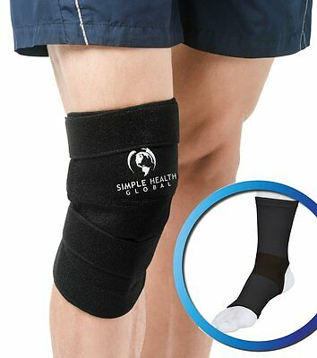 Knee Support Sleeve Wrap Adjustable Compression Brace for Magnetic Pain Relief