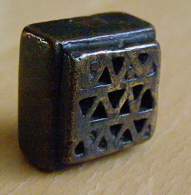 HEAVY SOLID OLD GEOMETRIC GOLDWEIGHT 52.2 gr SMOOTH SOFT BRONZE AKAN ASHANTI