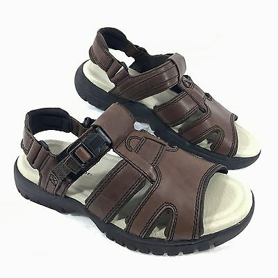 c60c6c63acb3 MEN S NEW EARTH Shoe Brown Leather Fisherman Sandals Sunshine II Sz ...