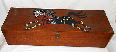 Horse Box Large Wooden Arts & Crafts Mission Style Hand Made 1940's BeAuTiFuL!