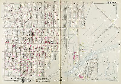 1905 Denver Colorado, Bayant & Webster Schools W. 32Nd Av - W. 41St Av Atlas Map
