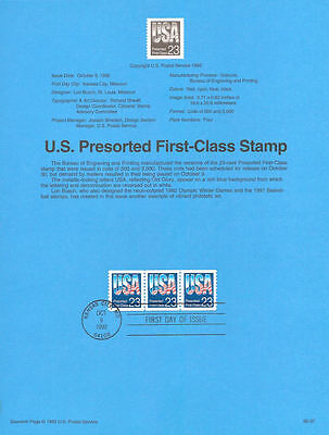#9237 23c Presorted Coil Stamp #2608A USPS Souvenir Page