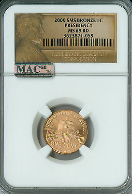 2009 Lincoln Cent Logo Presidency Ngc Mac Ms69 Red Sms Pq Finest Grade Spotless