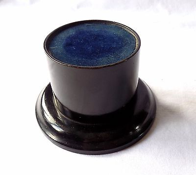 "Antique Ebonised Wooden Trophy Stand. 5"" Base Diameter. 3"" High."