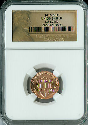 2010 D LINCOLN CENT NGC MS 67 RED 2nd FINEST BUSINESS STRIKE RARE SPOTLESS .
