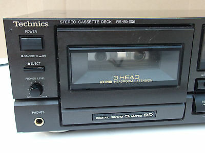 TECHNICS RS-BX606 CASSETTE DECK AA class Dolby BC - Made in Japan