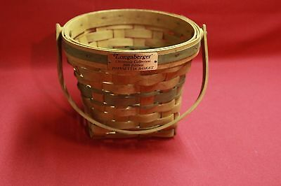 Longaberger 1988 Christmas Collection Poinsettia Red Basket