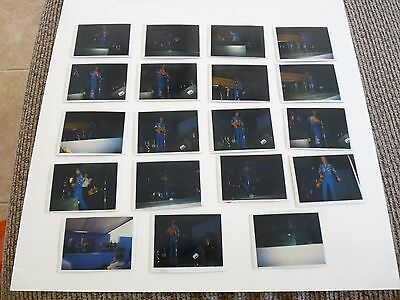 "Lot Of 19 Marty Robbins 3"" x 4"" Kodak Live Concert Photos 1981"