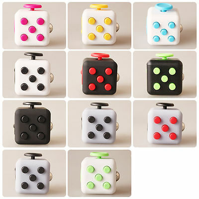 Fidget Cube Toy Spinner Fun Stress Reliever Gift Anxiety Autism ADHD Case